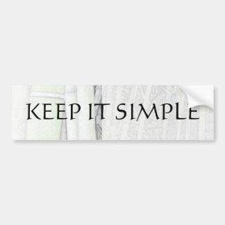 Keep It Simple Bamboo Light Bumper Sticker