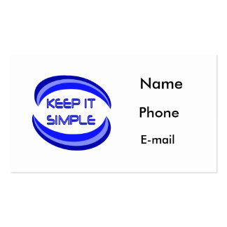 Keep It Simple Business Card