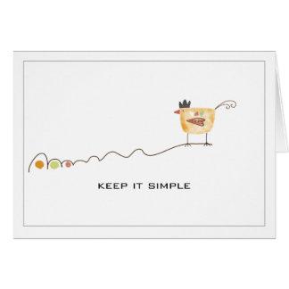 keep it simple card