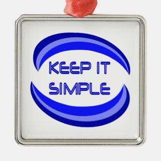 keep it simple christmas ornament