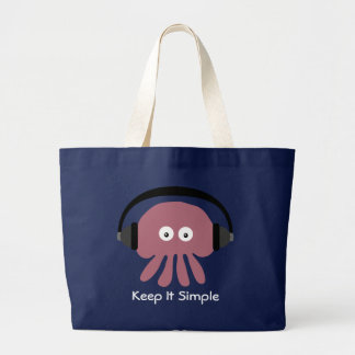 Keep It Simple DJ Jellyfish beach bag