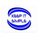 Keep It Simple Postcard
