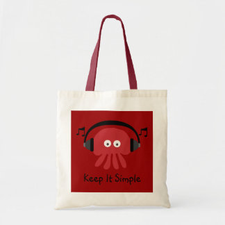 Keep It Simple Red DJ Jellyfish Customizable Tote Bag