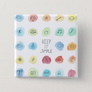 Keep It Simple Splotch Pattern on Button