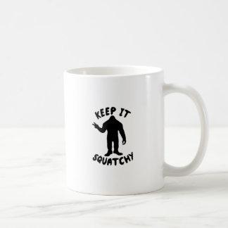 Keep it Squatchy Basic White Mug