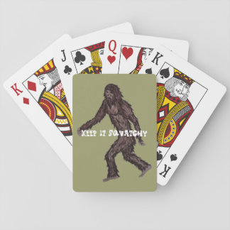 Keep it Squatchy Playing Cards