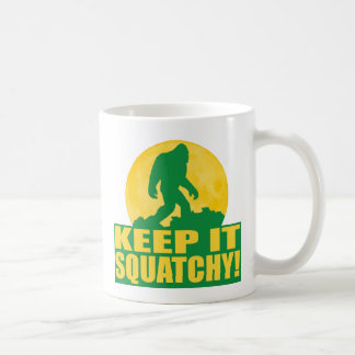 KEEP IT SQUATCHY! Special BARK AT THE MOON edition Basic White Mug
