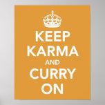 Keep Karma and Curry On print