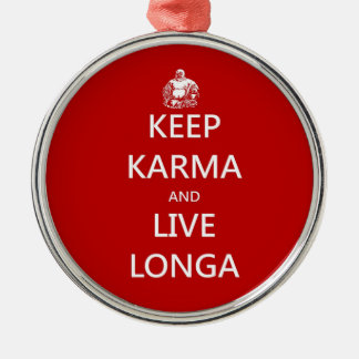keep karma and live longa christmas ornament
