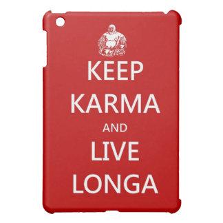 keep karma and live longa iPad mini cover