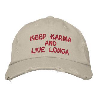 keep karma embroidered hat