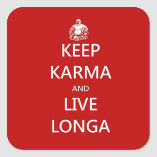 keep karma square sticker