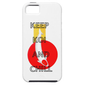 KEEP KOI AND CHILL iPhone 5 COVERS
