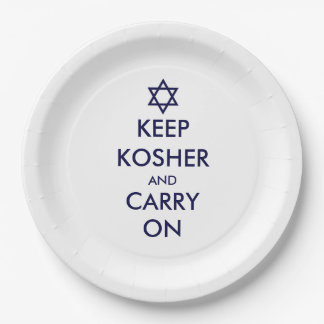 Keep Kosher and Carry On Paper Plate