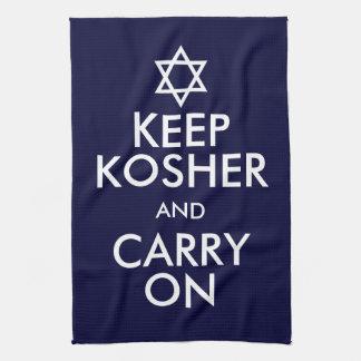 Keep Kosher and Carry On Tea Towel