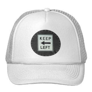 KEEP LEFT TRUCKER HAT