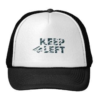 KEEP LEFT MESH HATS