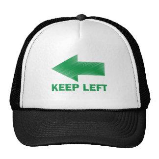 KEEP LEFT TRUCKER HATS
