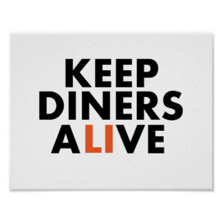 Keep Long Island Diners Alive Poster