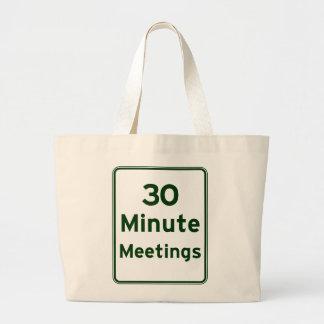 Keep meetings as short as possible jumbo tote bag