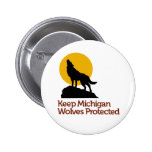 Keep Michigan Wolves Protected Button