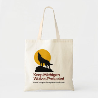 Keep Michigan Wolves Protected Tote Bag