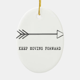 Keep Moving Forward Ceramic Oval Decoration