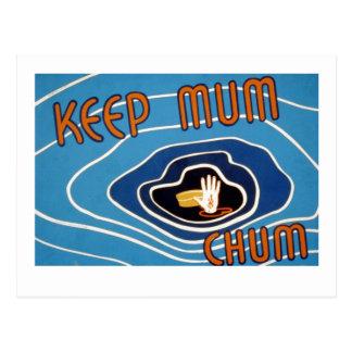 Keep Mum Chum Postcard