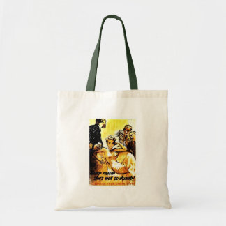 Keep Mum, She's Not So Dumb! Canvas Bags