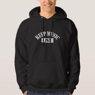 Keep Music Live Dark Hoodie