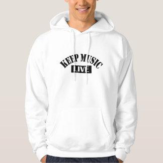 Keep Music Live Hoodie