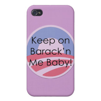 Keep On Barack n Me Baby Text Case For iPhone 4