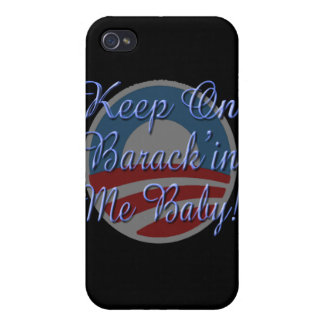 Keep On Barrack in Me Baby Logo Script Case For iPhone 4