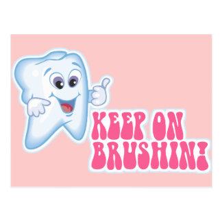 Keep On Brushing Postcards