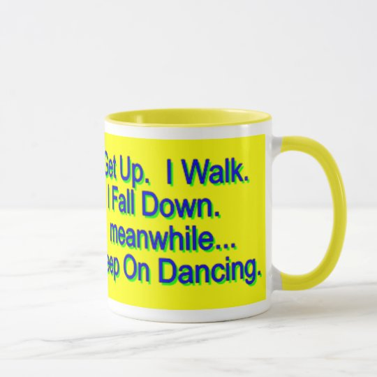 Keep On Dancing Mug, yellow Mug