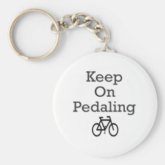 Keep On Pedaling Key Chains