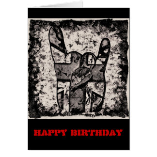 Keep on Rocking Metal Birthday Card