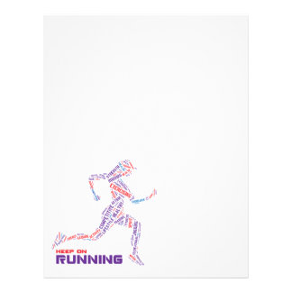 Keep on running 21.5 cm x 28 cm flyer