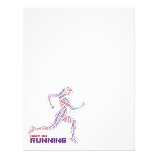 Keep on running 21.5 cm x 28 cm flyer