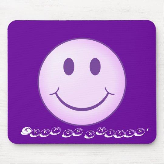 Keep on smilin' mouse pad