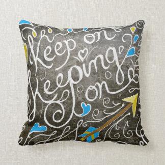 Keep on throw pillow
