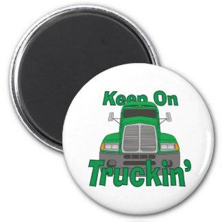Keep on Truckin' 6 Cm Round Magnet