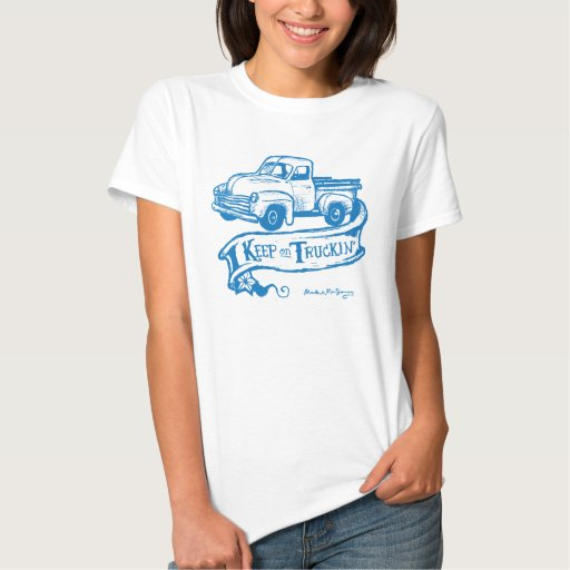 Keep on truckin'-blueT Shirts