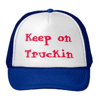 Keep on Truckin design by James Black Mesh Hats