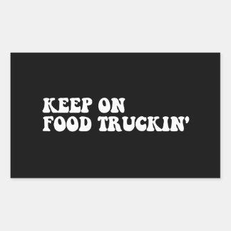 Keep on Truckin Rectangular Sticker
