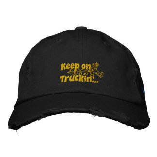 Keep on Truckin with personalized name Embroidered Hat