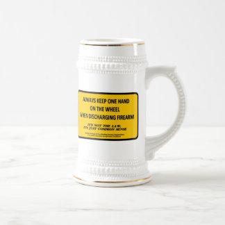 Keep one hand on the wheel when firing your gun mug