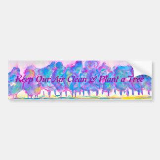 Keep Our Air Clean & Plant a Tree Car Bumper Sticker