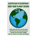 KEEP OUR PLANET GREEN POSTER