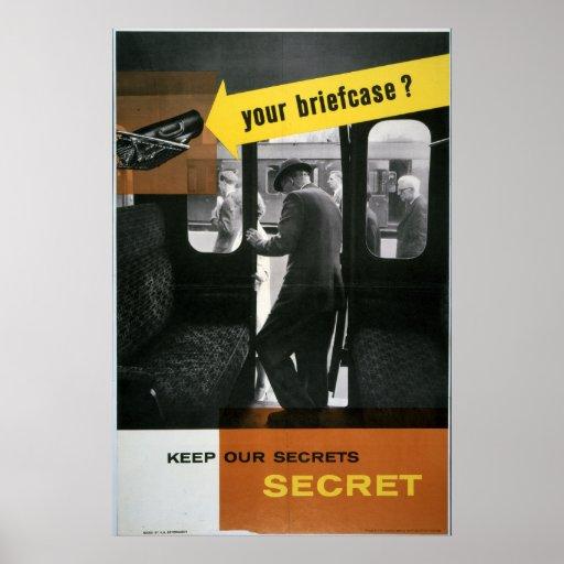 Keep Our Secrets Secret Campaign (Briefcase) Poster